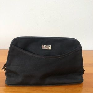 DIOR Black Canvas Makeup Pouch